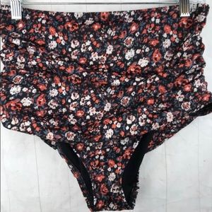 UO Out from Under High Waist Bikini Bottom Floral